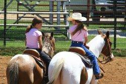 dzieci na koniach