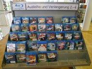 półka z filmami na blu-ray